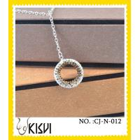 China OEM / ODM custom round CZ crystal & 925 silver handcrafted crystal jewelry wholesale