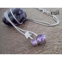 China Fashion Jewelry 925 Sterling Silver Gemstone Pendant with Zircon W-VB1029 wholesale