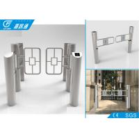 China Residential Turnstile Barrier Gate , Supermaket Entrance Pedestrian Security Gate wholesale