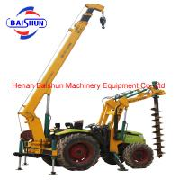 China Multi utility digging and pole erection machine for solar panel rack on sale