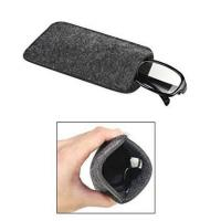 Dark Grey Ladies Soft Sunglass Case With A Plush Styrene Interior