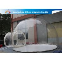 China 0.7mm Transparent Pvc Inflatable Camping Bubble Tent With Floor CE UL EN14960 wholesale