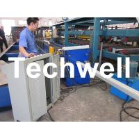 China PLC Frequency Control System Rainspout Roll Forming Machine for Rainwater Downpipe wholesale