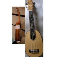 China Polished Round Spruce Solid Wood Hawaii Guitar Ukulele Four String Mini Guitar AGUL26 wholesale