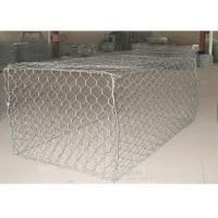 China Zinc Coated Galfan Pvc Coated Gabion Box / Basket Gabion Mesh 100*120mm wholesale