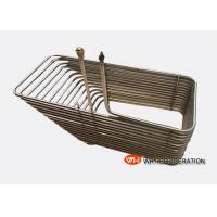 China Coaxial Coiled Twisted Tube Heat Exchanger For Vessel And Swimming Pool Equipment on sale