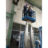 Quality Push Around Vertical Mast Lift , 12 Meter Working Height Electric Work Platform for sale