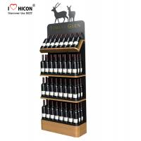 China Freestanding Custom Wooden Wine Display Rack For Liquor Store Advertising wholesale