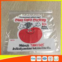 China Clear PE Custom Printed Zipper Bags Resealable Poly Bag With Customer Design on sale