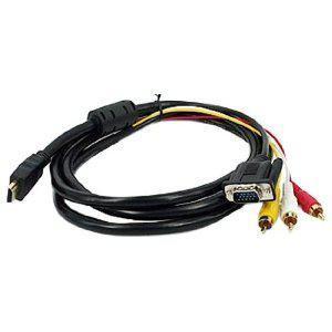 China HDMI male to VGA + 3RCA Male RCA Audio Cable wholesale