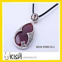 Quality Fashion 925 Sterling Silver Pendant with Marcasite,Agate Gemstone Supplier for sale