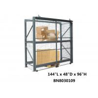 China All Steel Wide Open Sliding Pallet Rack Security Enclosure For Inventory Secure System wholesale