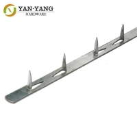 China best factory price durable one meter long sofa iron metal tack strip without PVC cover wholesale