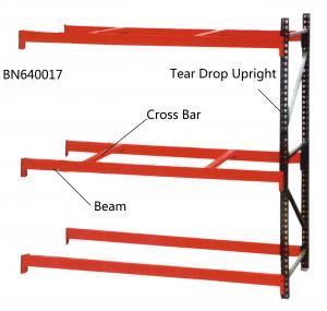 China Step Beam Style Teardrop Pallet Rack Shelving 2000 Lbs – 7000 Lbs Capacities wholesale