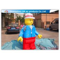 China Nylon Inflatable Cartoon Characters , Inflatable Lego Model With Beautiful And Long Durability wholesale