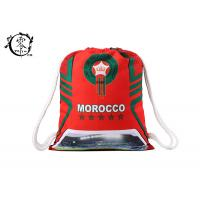 China FIFA Morroco Waterproof Patterned Gym Bag , World Cup Yoga Nylon String Bag wholesale