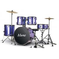 China 5 Piece Acoustic Percussion Adult Drum Set With cymbal and throne A525P-901 wholesale