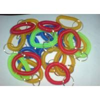 China Plastic spiral coil wrist band key ring chain keyring random color competitive China price wholesale