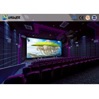 China 100 Seats Motion Chair 4D Cinema Equipment With Large Screen And Special Effects wholesale