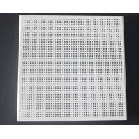 China Weather Resistant Acoustical Ceiling Tiles Aluminum / Galvanized Steel White Coated wholesale