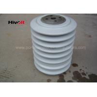 China Porcelain Post Insulators With Steel Inserts , Bus Post Insulator Grey Color wholesale