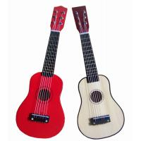 China White / Red Steel String Wooden Toy Guitar 21 Inch With Birch Neck AG21-404 wholesale