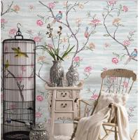 China Flowers And Birds Soil Case Classic Style Embossed Vinyl Wallpaper wholesale