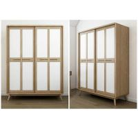 China American StyleHotel Room Wardrobe Sliding Door With Glass Door / Wooden Door wholesale