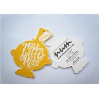 China Yellow Clothing Label Tags Recycled Paper Hang Tag For Necklaces wholesale