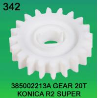 China 385002213A / 3850 02213A GEAR TEETH-20 FOR KONICA R2 SUPER minilab wholesale
