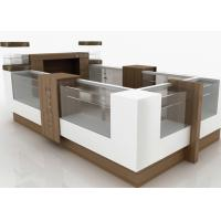 China Small Attractive Retail Mall Kiosk Veneer Wooden Glasses Material 12 Square Meters wholesale