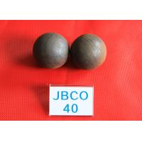 Quality B2 D40MM Grinding Media Steel Balls High Core Hardness 56 - 59hrc for Mines for sale