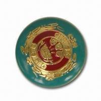 China 15.4mm Jeans Button with Enamel Epoxy Finish, Made of Lead-free Zinc Alloy wholesale