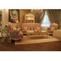 China Parquetry and Golden Decortation in Wooden Carving Frame with Fabric Upholstery Sofa wholesale