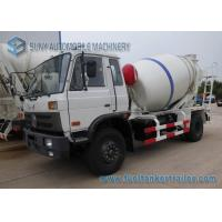 China 5000 Liters Dongfeng 153 Transit Mixer Truck With White And Blue Stripe Drum wholesale