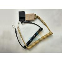 Buy cheap High Security Tactical Pistol Elastic Spring Lanyard w/Belt Velcro and J-Hook from wholesalers