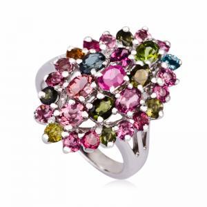 China Fashionable Crystal Silver Rings K-BC-A717 wholesale
