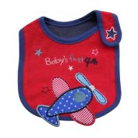 China Red Plane Custom Baby Bibs Baby Dribble Bibs , 100% Cotton Toweling Material on sale