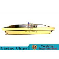 China Bright Golden Texture Metal Casino Chip Tray , Poker Table Chip Tray Inserts  wholesale