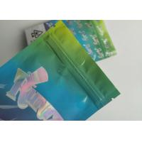 Buy cheap Hologram Weed Stand Up Zipper Pouch Smell Proof Runtz Bag With Clearly Window from wholesalers