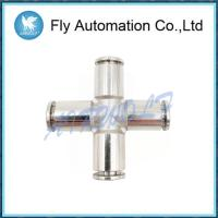 China Union Cross Shape Pneumatic Tube Fittings Series 6600 Port Size G1/4 Stainless steel on sale