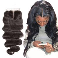 China Natural Baby Hair 4X4 Lace Top Closure Hair Extensions 18 Inch OEM wholesale