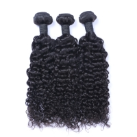China Cuticle Aligned 6A Jerry Curly Peruvian Human Hair Weave wholesale