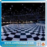 Buy cheap Black and white dance floor with sparkling lighting product
