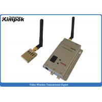 China Miniature FPV / UAV Video Transmitter 1000m LOS From Air to Ground Wireless AV Link wholesale