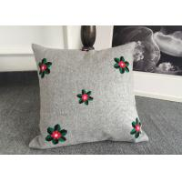 China Embroidered Elegant Decorative Cushion Covers 100% Cotton For Couch / Sofa wholesale