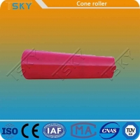China Red Cone Shape Self Lubrication Conveyor Idler Roller wholesale