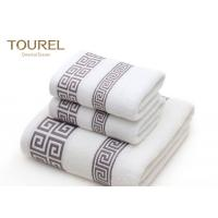 China Zero Twist Terry Spa Bath Towels / Airplane Hotel Bathroom Towels wholesale