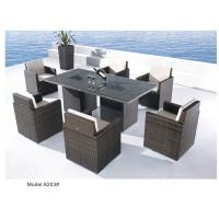 China 7-piece resin wicker rattan outdoor patio dining set for 6 people-8203 wholesale