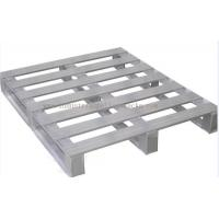 "China Heavy Duty Metal Pallets Warehouse Equipments Standard Size 40"" X 48"" Grey Color wholesale"